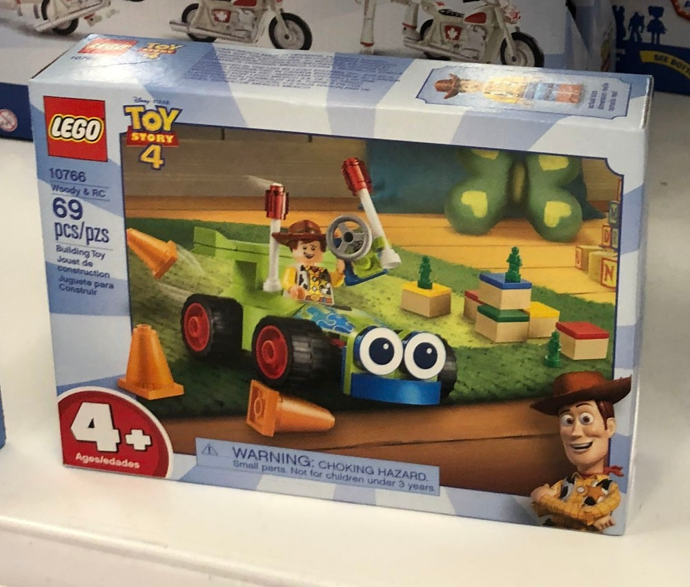 lego woody and rc car set