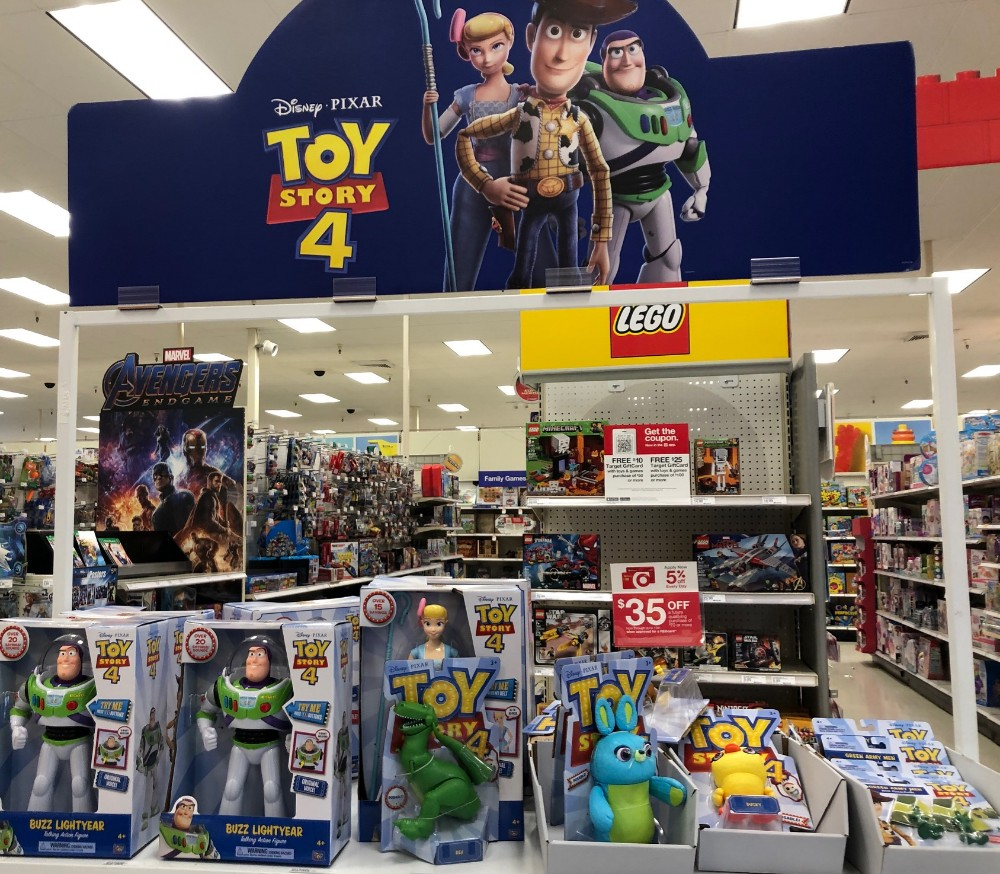 toy story 4 at target aisle
