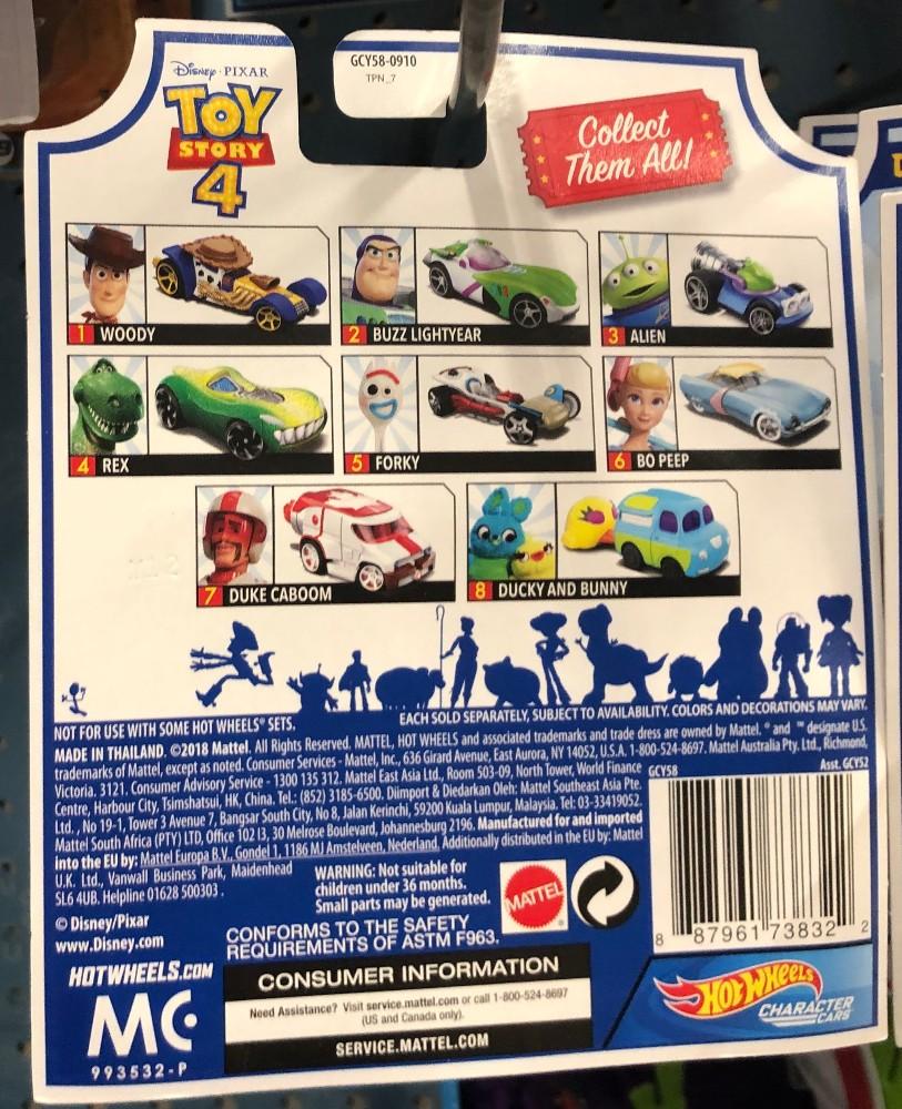 toy story 4 hot wheels set