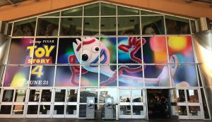 image of theatre entrance showing pixar toy story 4