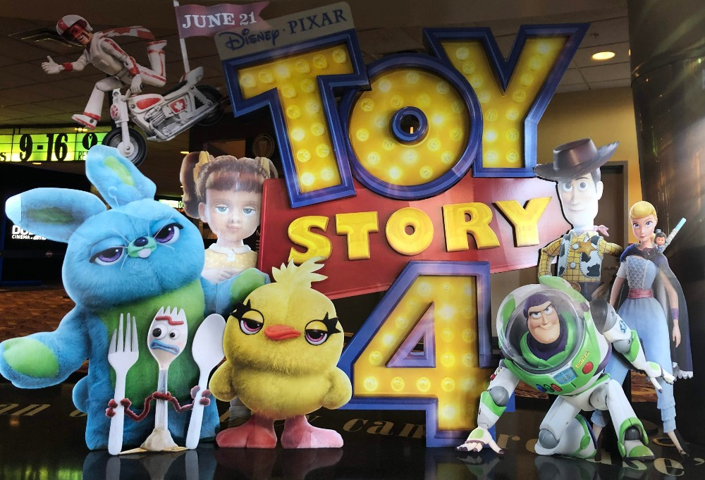 toy story 4 movie theater display for toy story 4 review