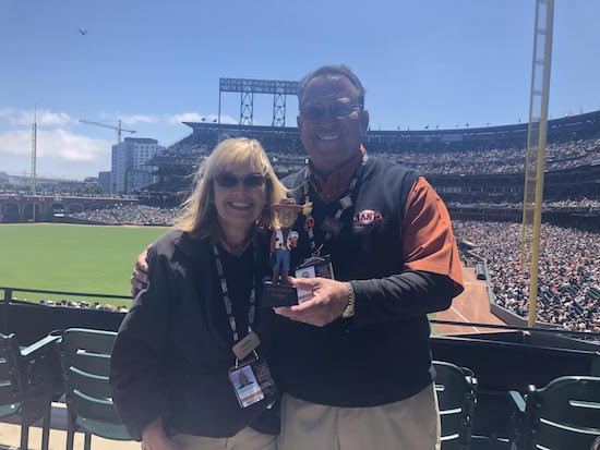 sf giants with woody bobblehead