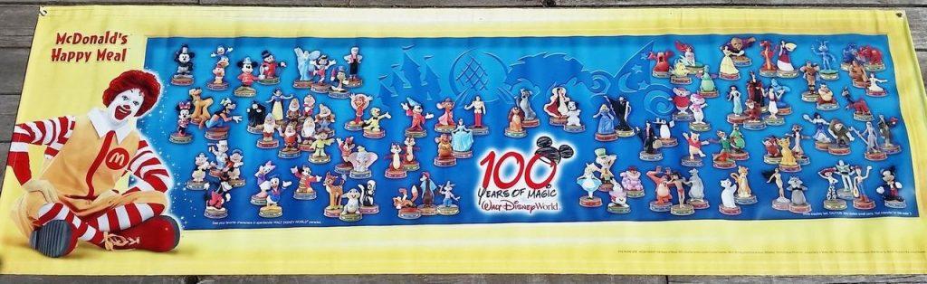 100 years of disney mcdonalds poster