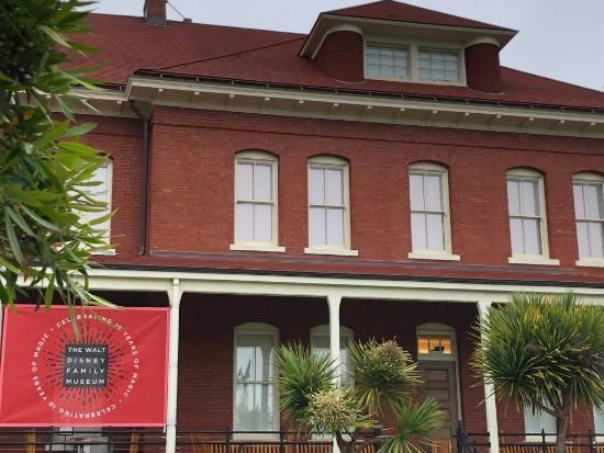in front of walt disney family museum
