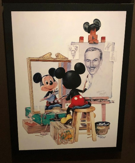 mickey and walt norman rockell painting