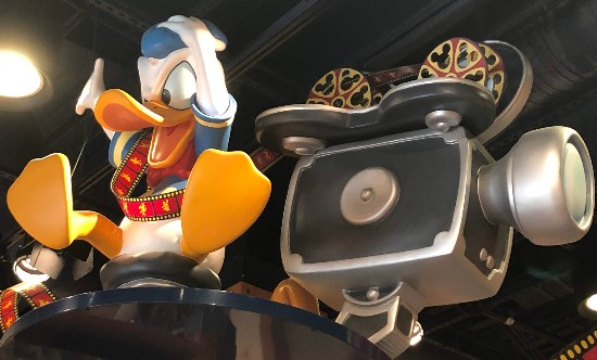 donald duck gets angry at film camera