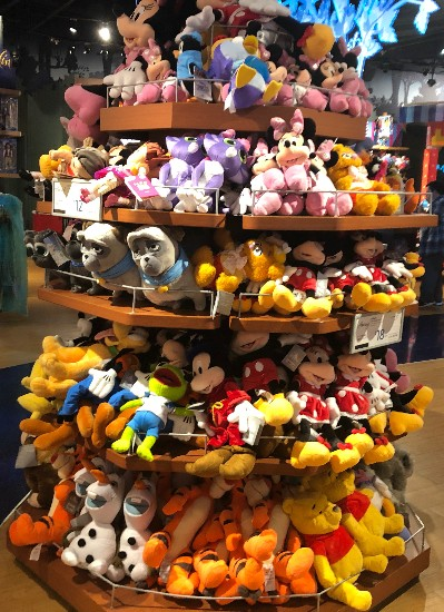 Image of plush on display in disney store in santa ana review