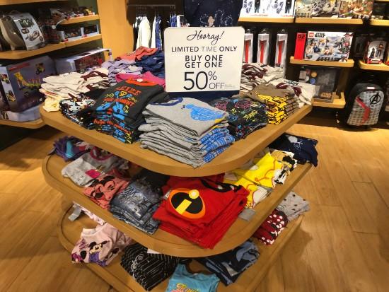 t shirt display in disney store santa ana