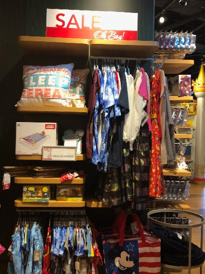image of clearance section for disney store in santa ana review