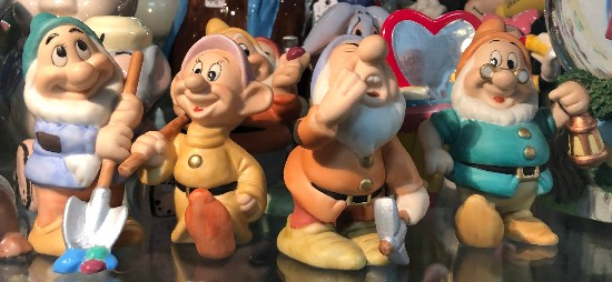 seven dwarves figure disney antique