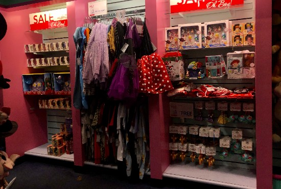clearance section at the disney store