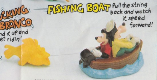 goofy movie fishing boat toy