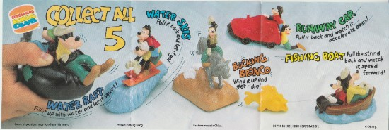burger king kids club pamphlet for disney goofy and max's adventures from the movie burger king toys