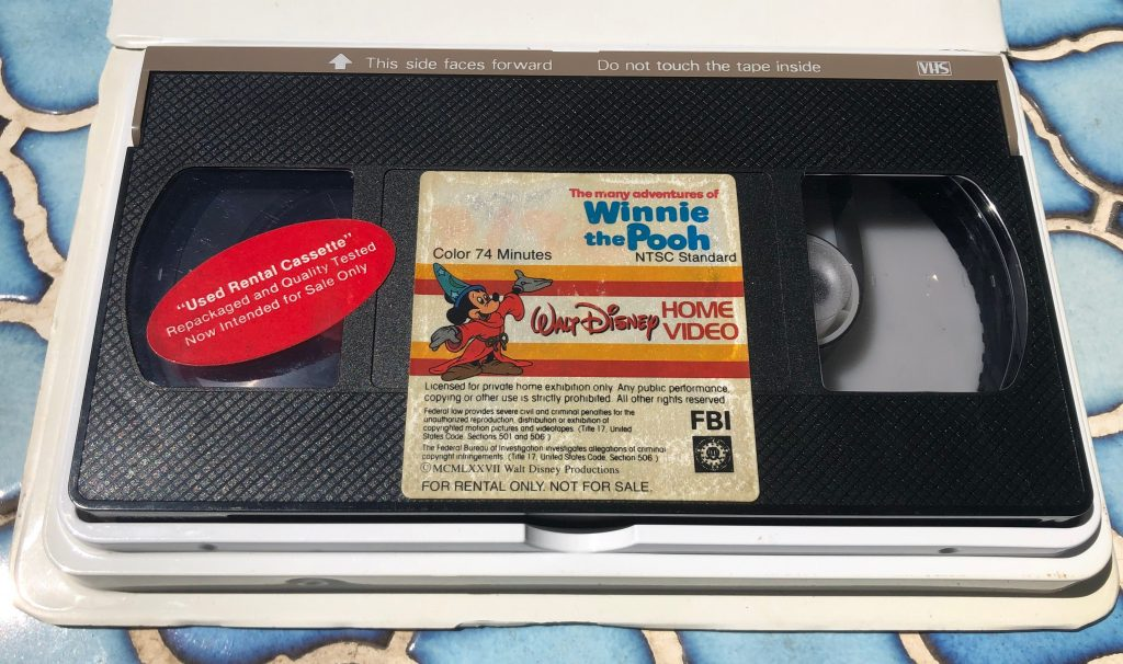 winnie the pooh vhs tape
